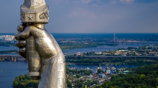 Родина мать вид на Киев (фото 10)