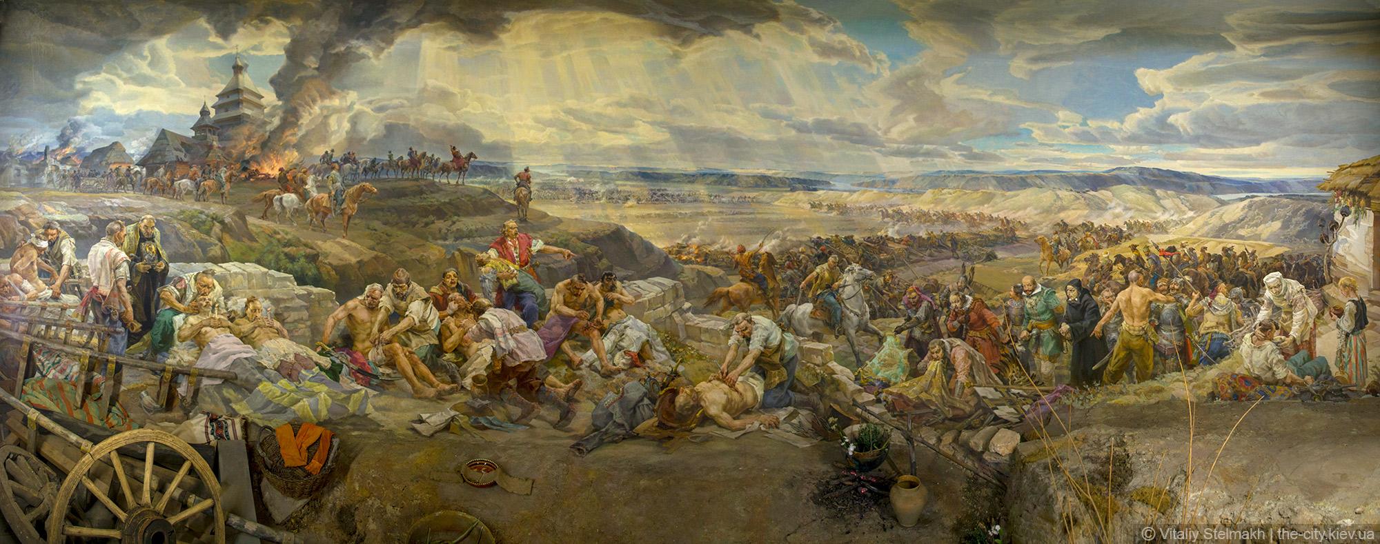 Панорама помощь раненым казакам в бою