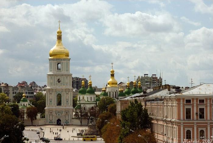 Вид с колокольни Михайловского собора